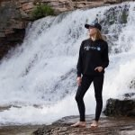 Hoodie_Black_Girl-posing-by-waterfall